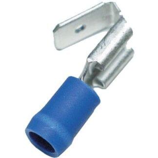 Flatstiftshylsa med hane blå 10-pack (kabelarea 1,5 - 2,5 mm²)