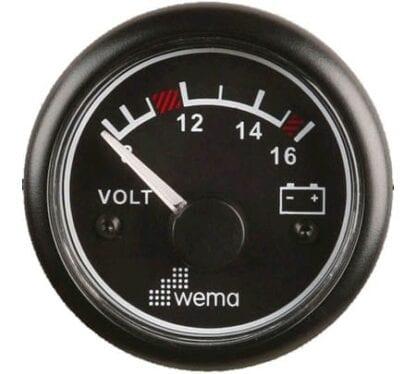 Voltmätare 12V Wema IPVR