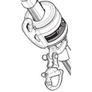 Fallsvirvel Furlex 100S för vajer 6 mm