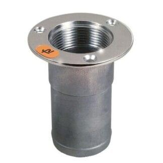 Roca däcksförskruvning rostfri för slang 50 mm
