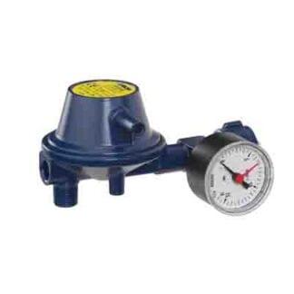Reducerventil 30 mbar IC-gaz blå med manometer