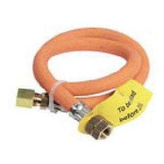 Pressad gasolslang 600 mm reducerventil-kopparrör