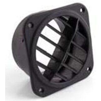 Utblåsventil 90/100 mm vridbar, svart