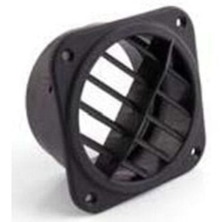 Utblåsventil 75 mm vridbar, svart