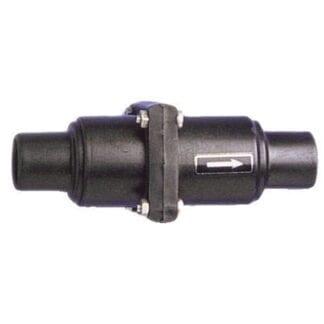 Backventil 25/38 mm glasfiber