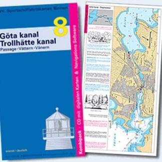 NV. Verlag båtsportkort serie Göta Kanal, Trollhätte Kanal och Göta Älv utgåva 2016