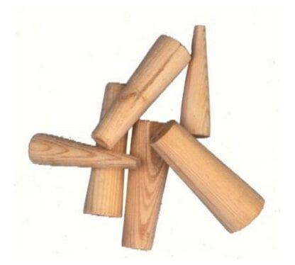 Träpluggar 10 st, koniska för hål ø 8 - 38 mm