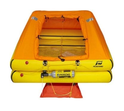 Livflotte Plastimo Cruiser ORC för 4 personer förpackad i container