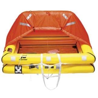 Livflotte Plastimo ISO 9650-1 + ISAF Transocean för 4 personer förpackad i container