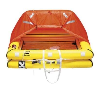 Livflotte Plastimo ISO 9650-1 + ISAF Transocean för 6 personer förpackad i container