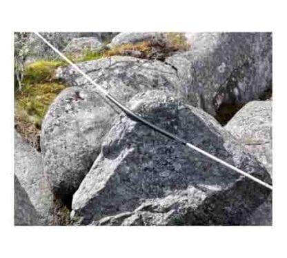 Skavskydd Waterline Design Spiroll svart M lina 16-25 mm lina