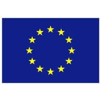 Flagga EU polyester 75 cm
