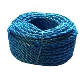 Presenningslina 20 meter x 6 mm blå polypropylen