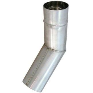 Rökgasrör rostfritt 45°