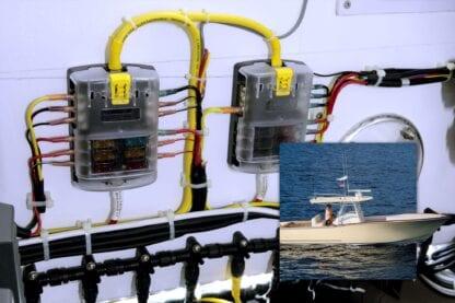 BlueSea säkringshållare ATO/ATC med minusskena för 6 säkringar