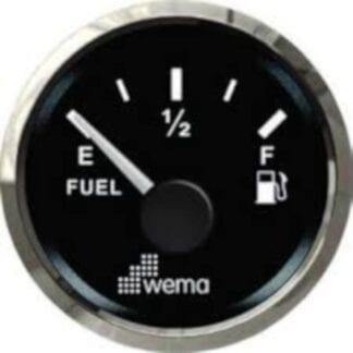 Bränslemätare Wema Silverline med svart urtavla NMEA 2000
