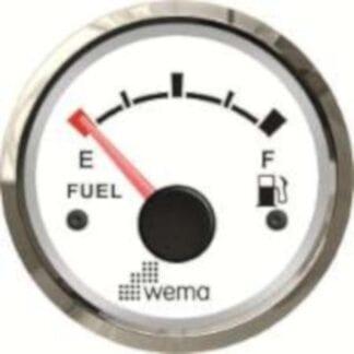 Bränslemätare Wema Silverline med vit urtavla NMEA 2000