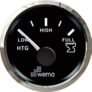 Septiktanksmätare Wema Silverline med svart urtavla NMEA 2000