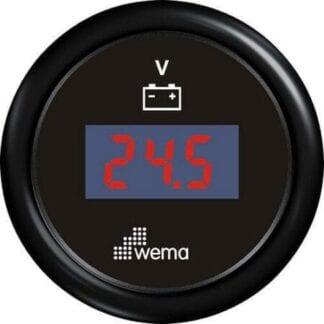 Voltmätare Wema blackline 12 V svart