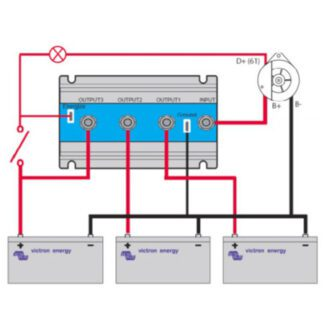 Batteriisolatorer och batterikombinerare